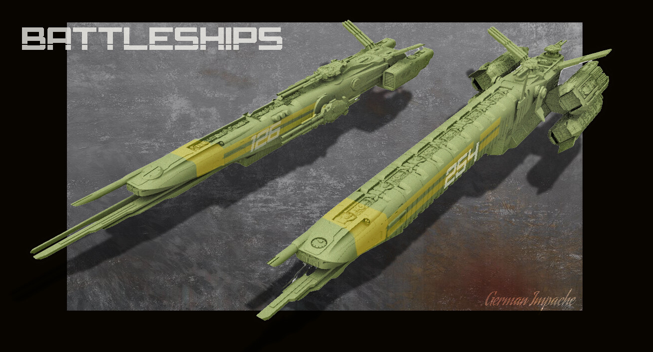 OBERON and  TITANIA Spaceships
