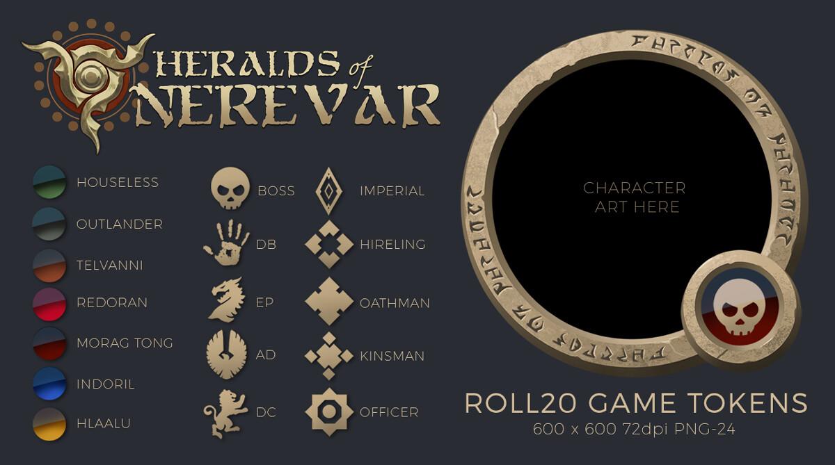 Custom Game Token Frame: Heralds of Nerevar