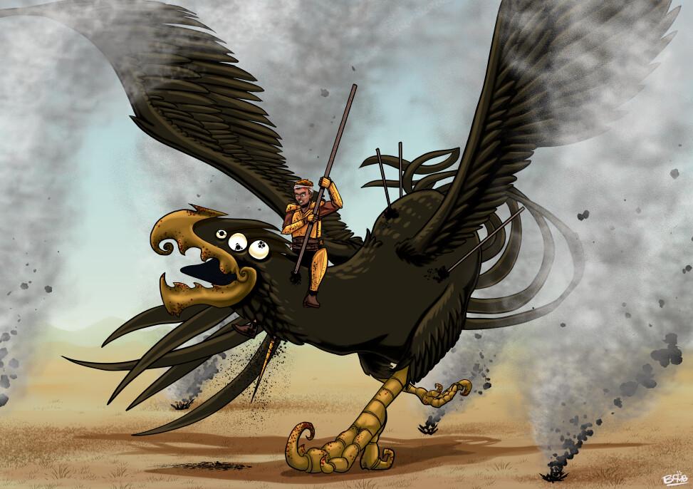 Michael davis slaying the umberhawk