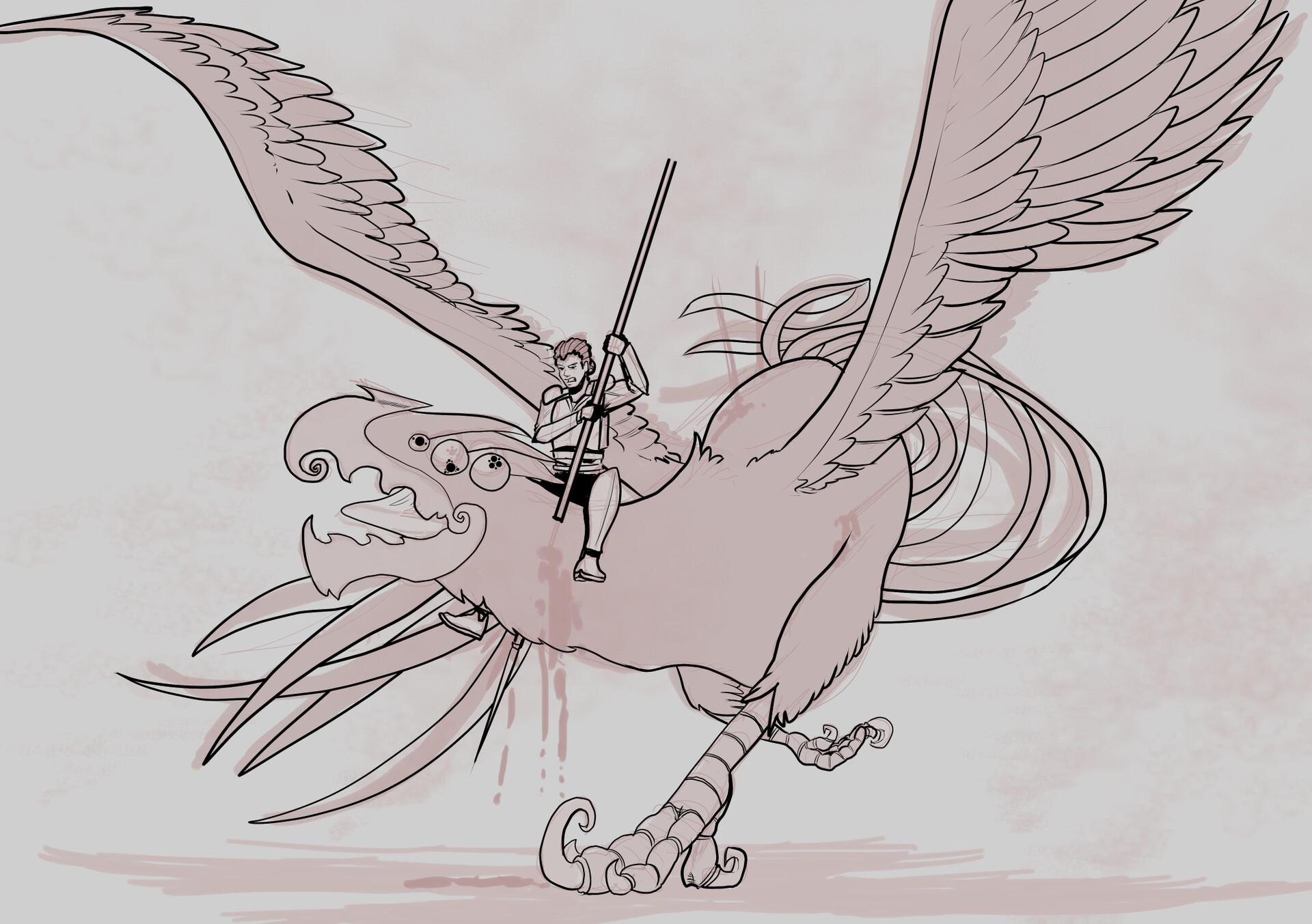 Michael davis slaying the umbrahawk