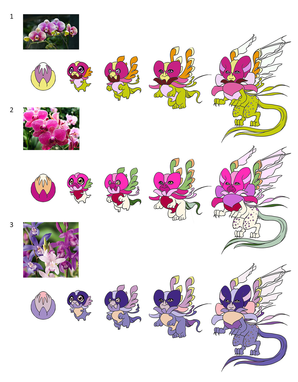 Orchid Dragon - Colour Keys