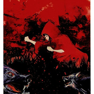 Afromation art red riding hood 2 by afromation d2cd1lh fullview