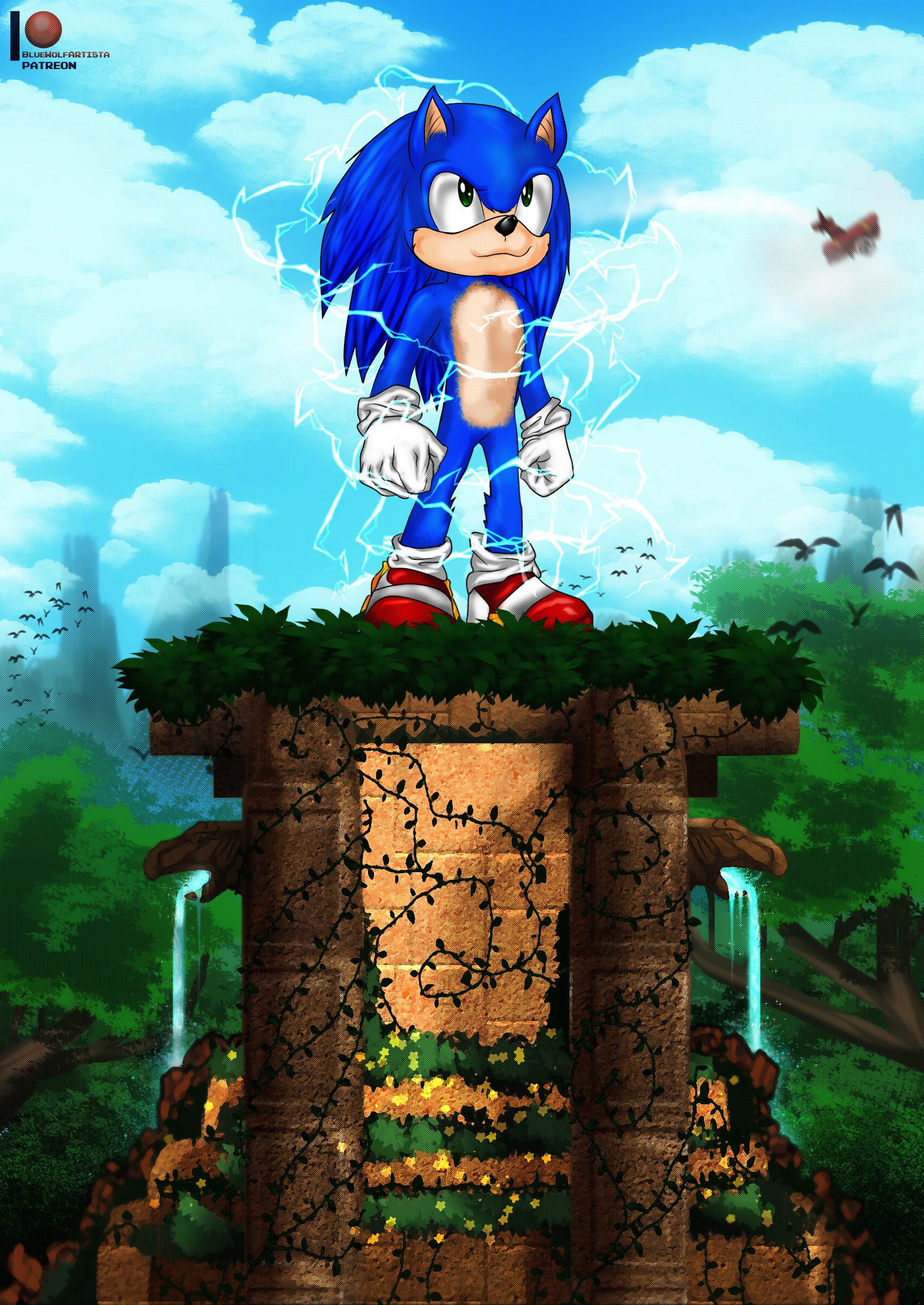 Artstation Sonic The Hedgehog Sonic The Hedgehog Movie Federico Segovia Bluewolfartista