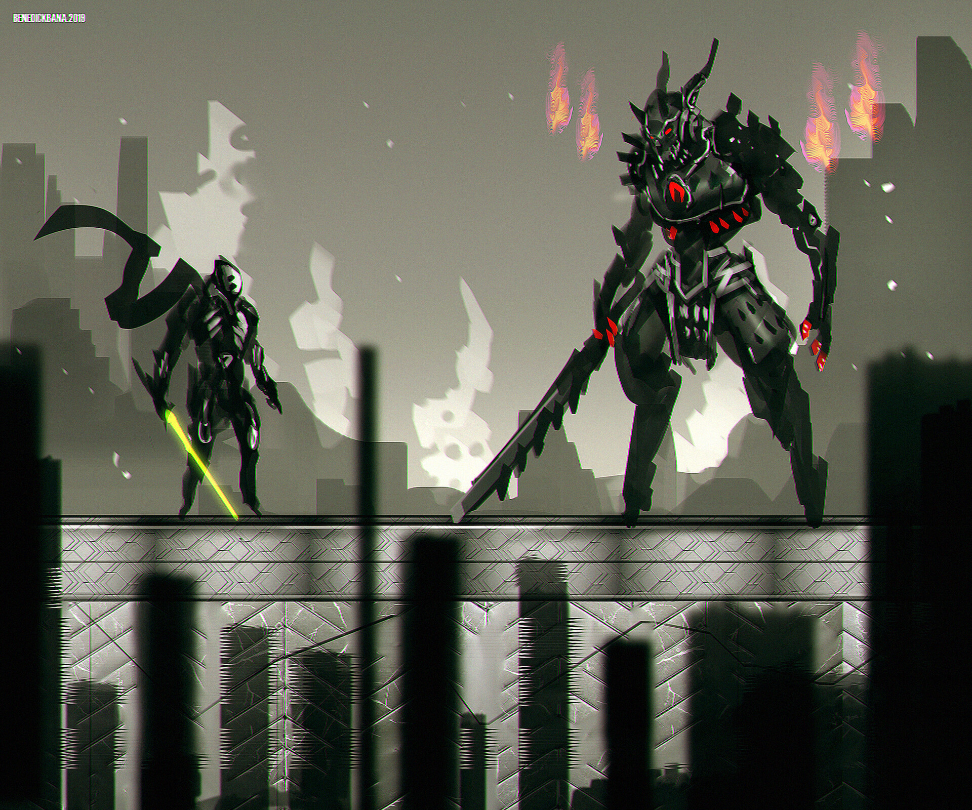 Darkfall 2D fighting game concept art