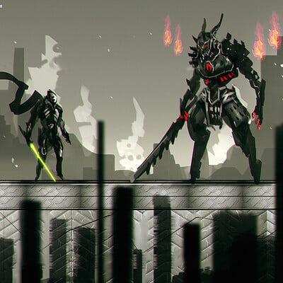 Benedick bana 2d game concept darkfall lores