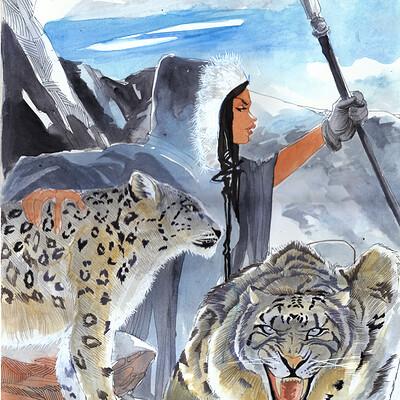 Afromation art leopard tamer