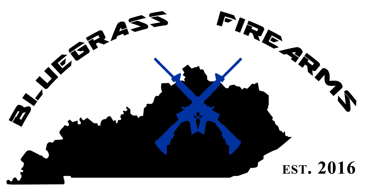 The first iteration of the logo for Bluegrass Firearms