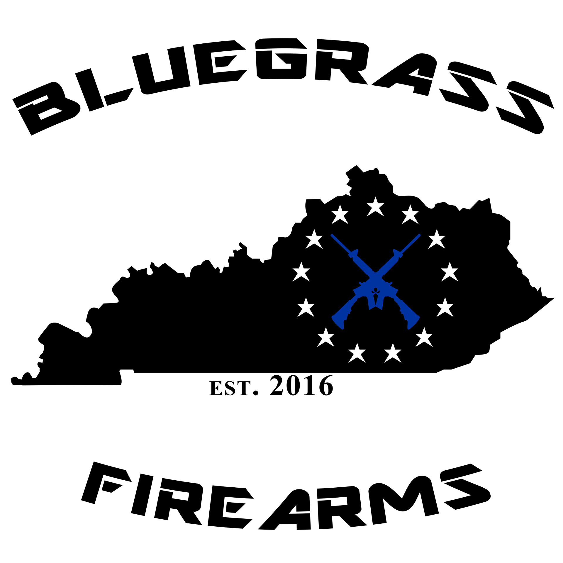 The final version of the logo for Bluegrass Firearms