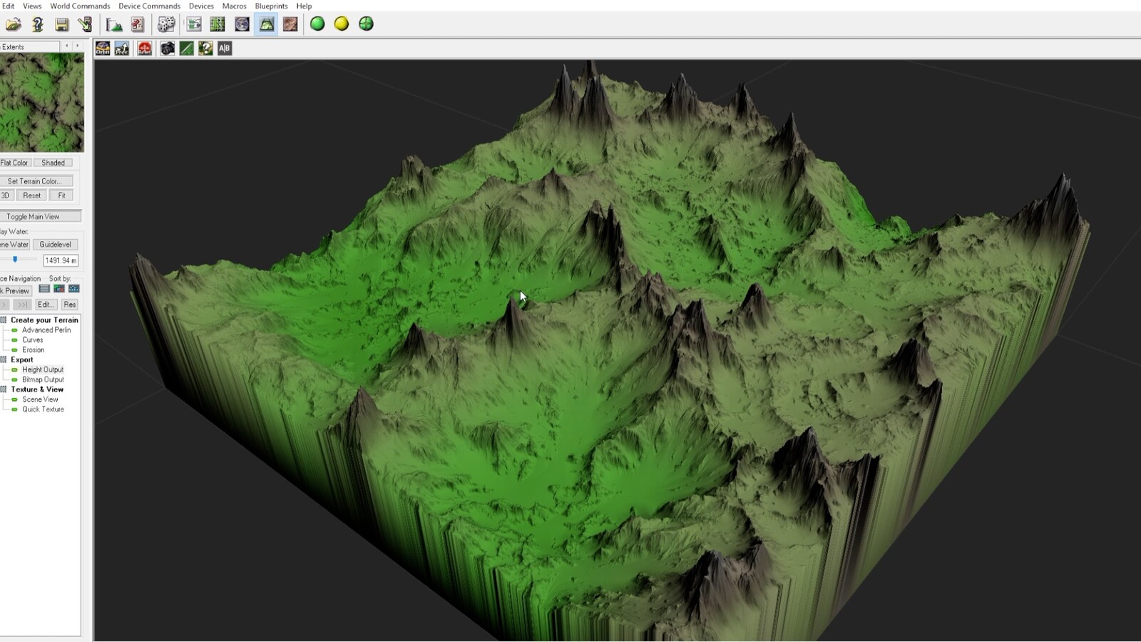 I exported the heightmap