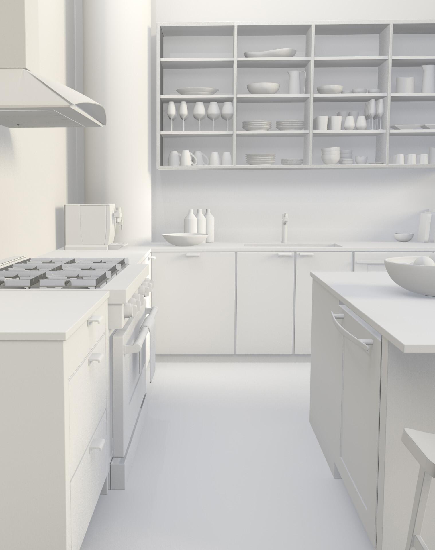 Artstation Kitchen Room Qing Chan