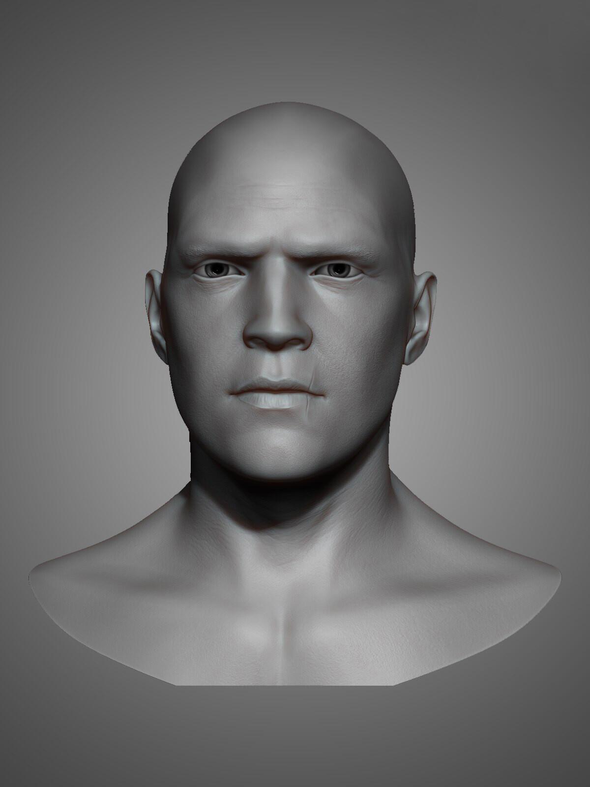 Test sculpting of head