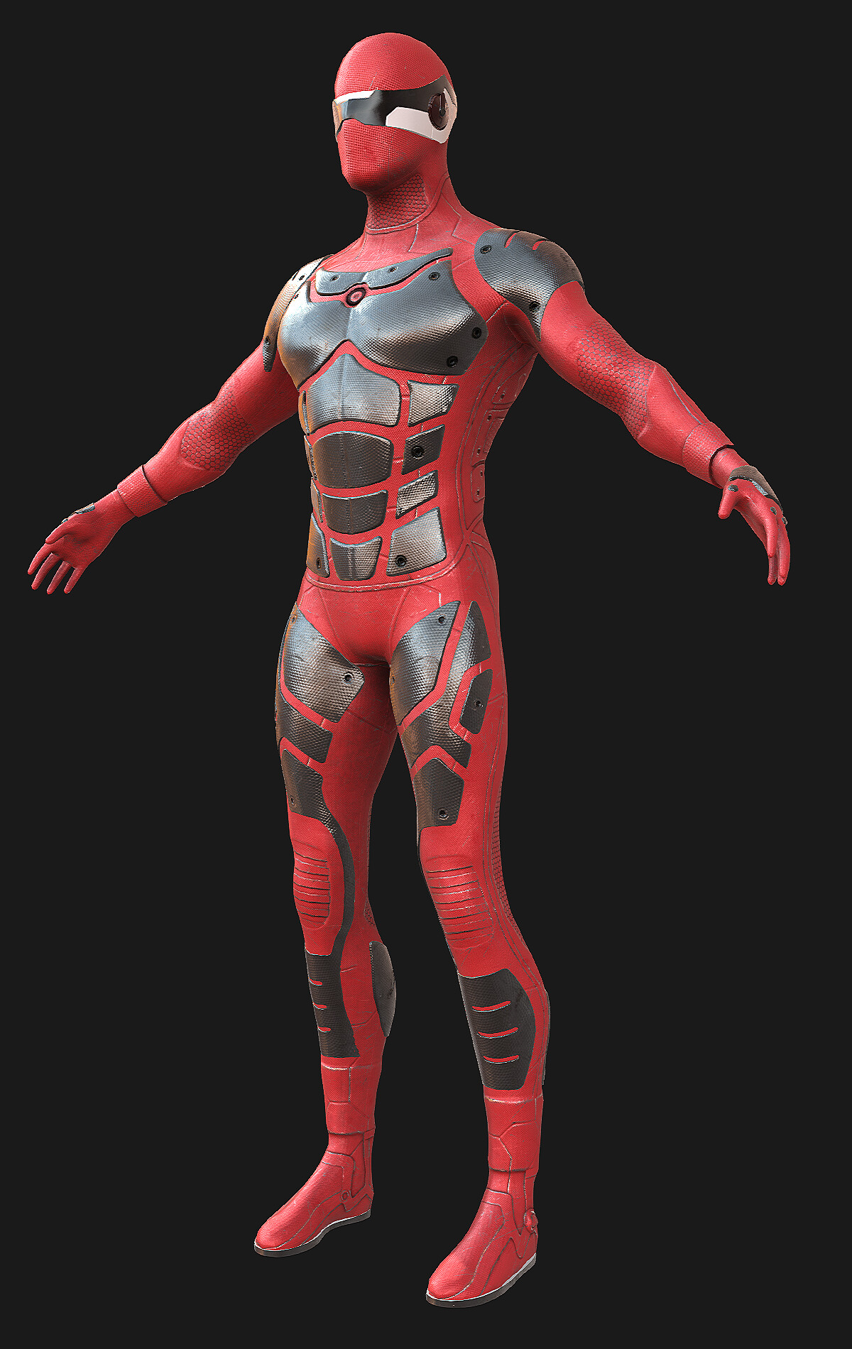 Modeling/Texturing/Shading Low-Poly main character for game