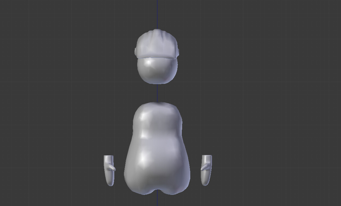 VR player model with detached head and hands for freedom of movement.