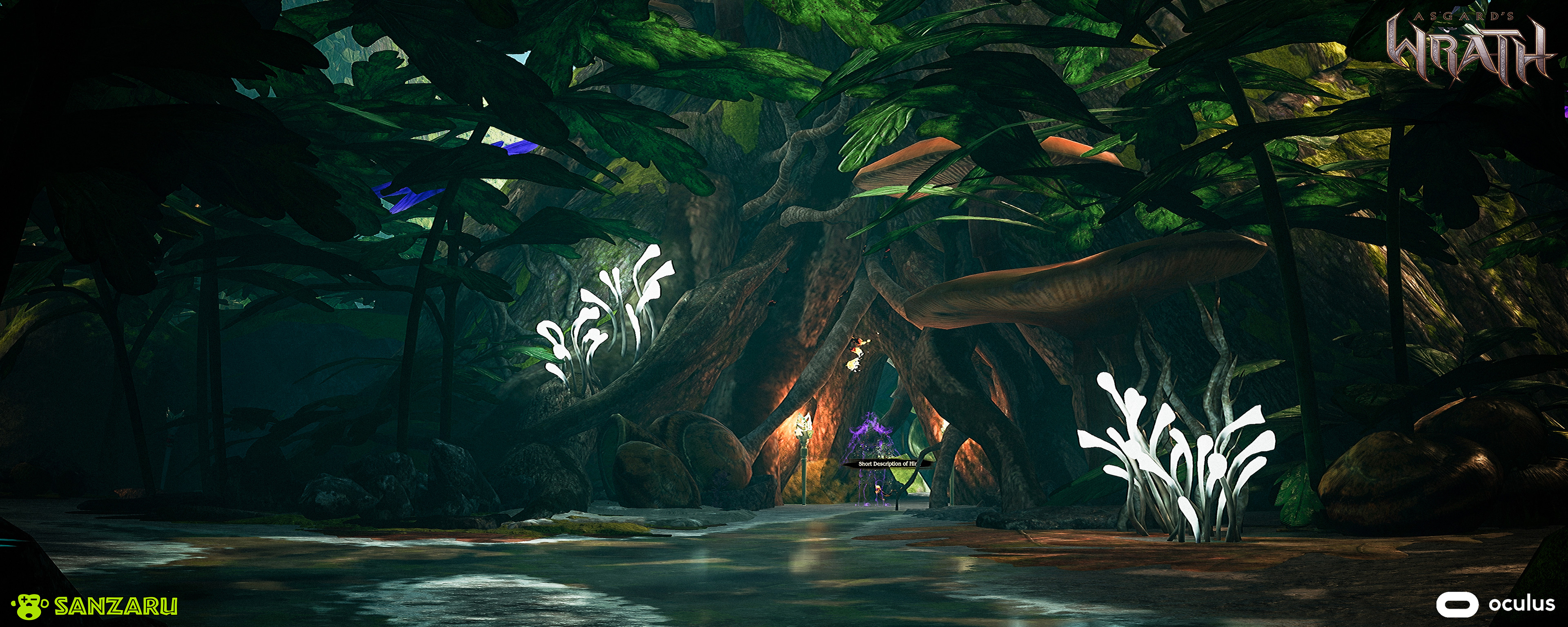 Various World Materials were created and used with Blend maps for various large structures such as the Trees and Roots in the level.