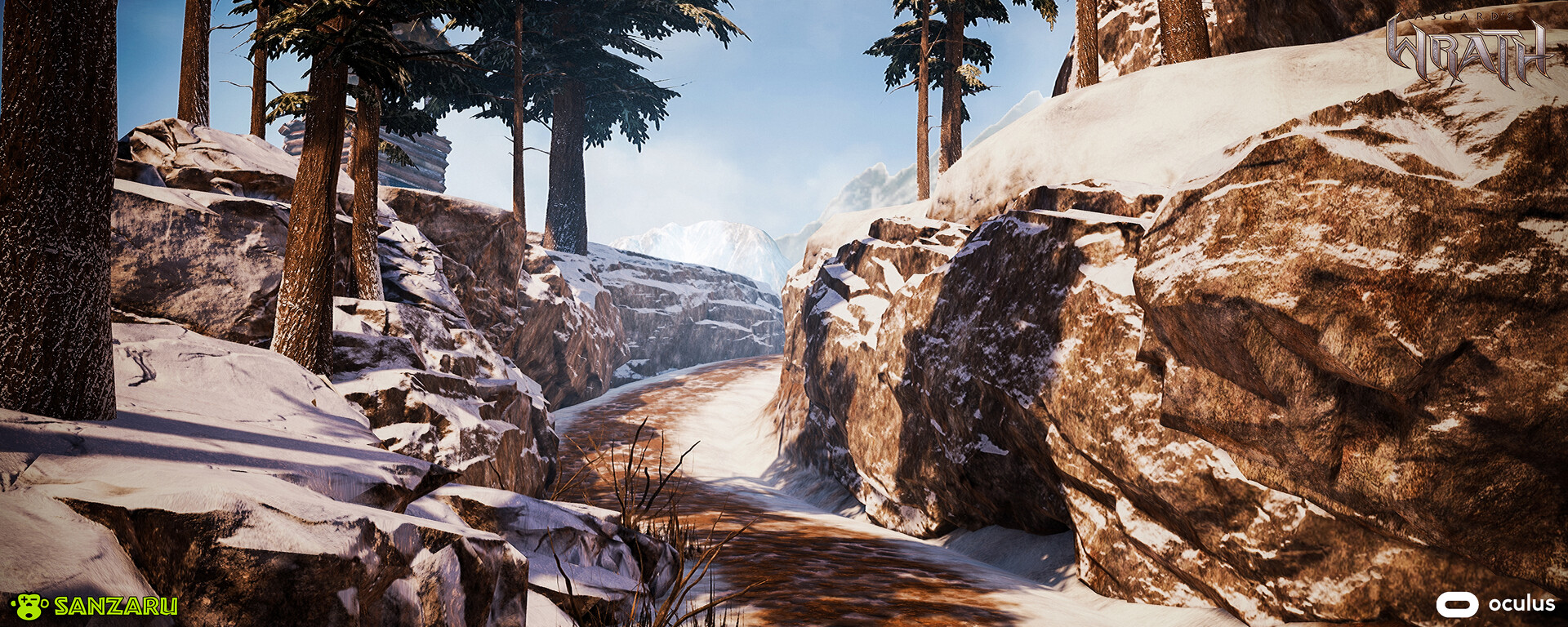 A small road section used for an IGC in the game. Main Rock Formations were created from Rocks I worked on, many world materials and blends were created to help with terrain transitions.