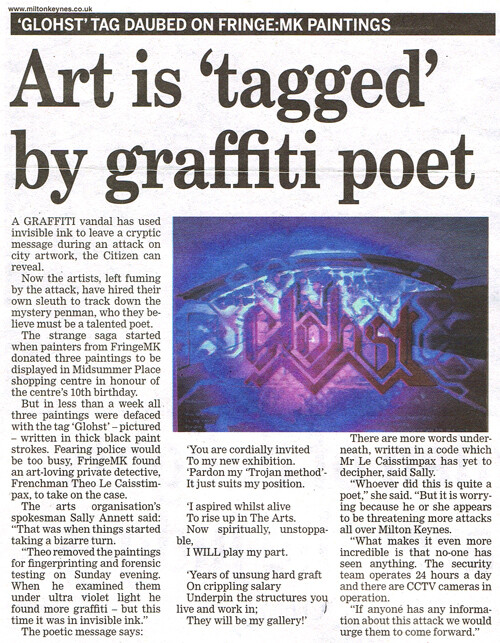 Glohst Newspaper Article