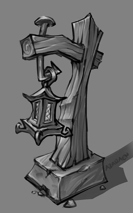 Stylized Lantern Sketch