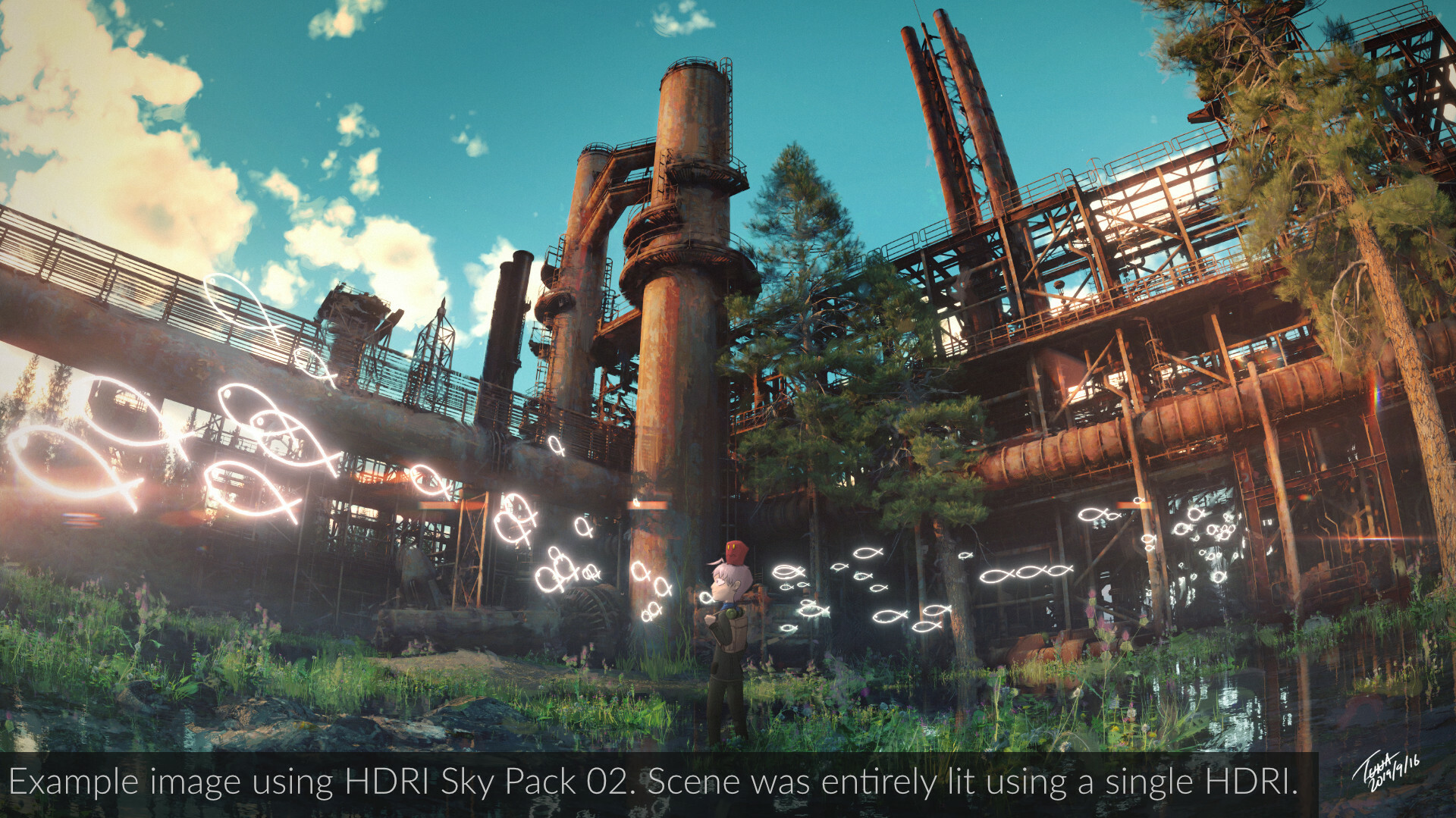 Of course, these HDRIs have proven effective in making beautiful images! This is one of my own images from SideTrip!