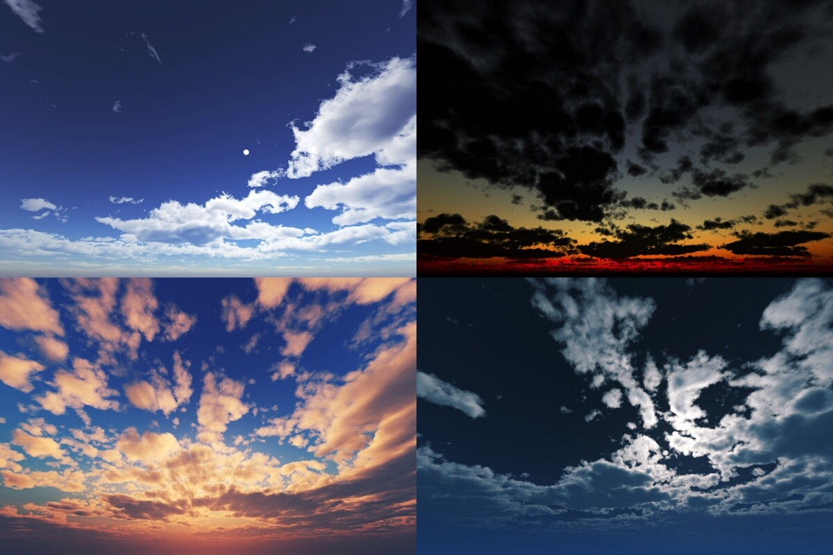A closer view of the skies. All 8k resolution, crisp, noise-free *as possible*.