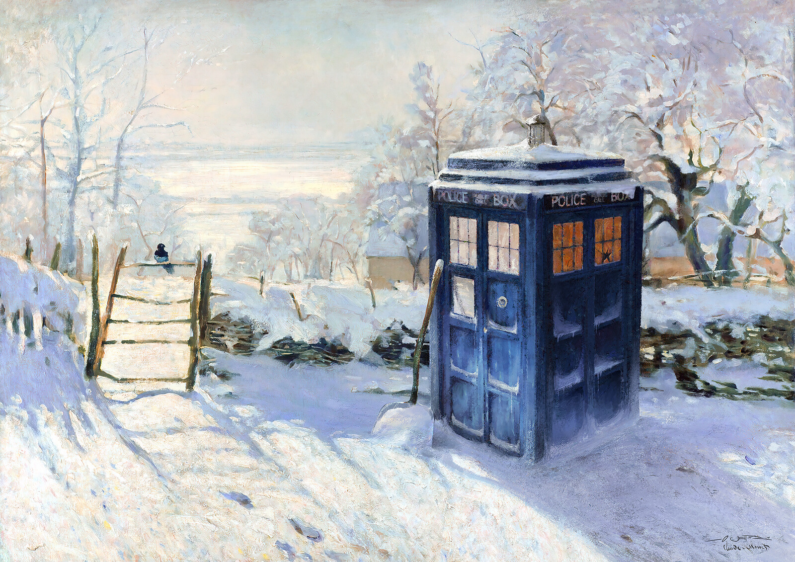 Magpie & Tardis / Monet Inceptionism