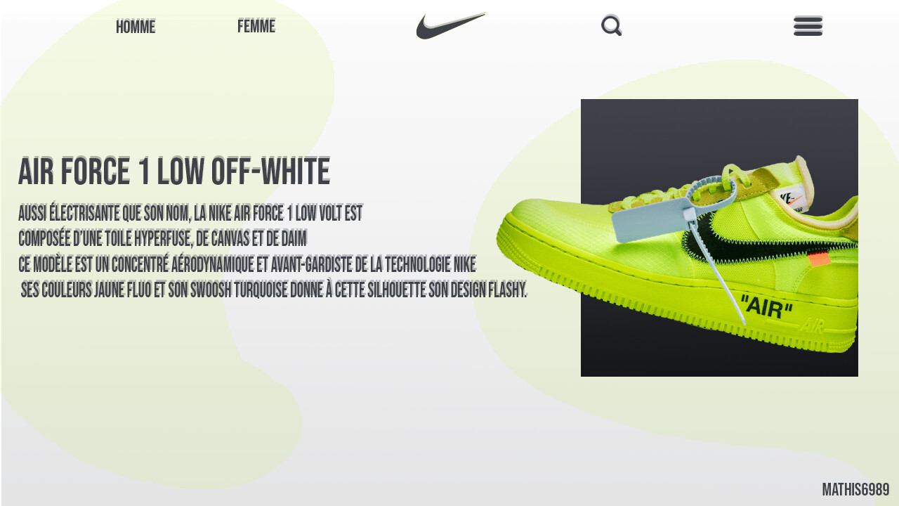 nike air force 1 jaune fluo femme