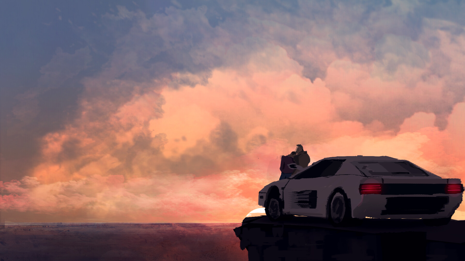 Artstation White Ferrari Testarossa Sam Annan