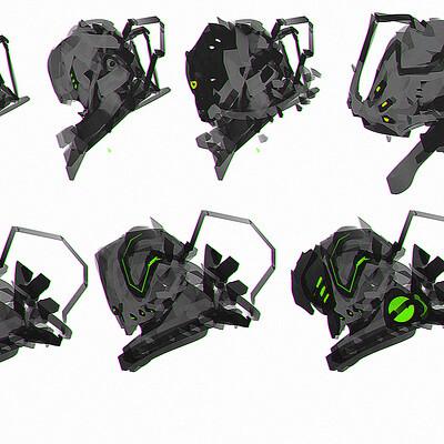 Benedick bana helmet design hex design 001 lores