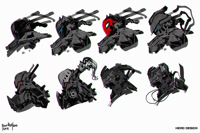 Scifi Head Designs B