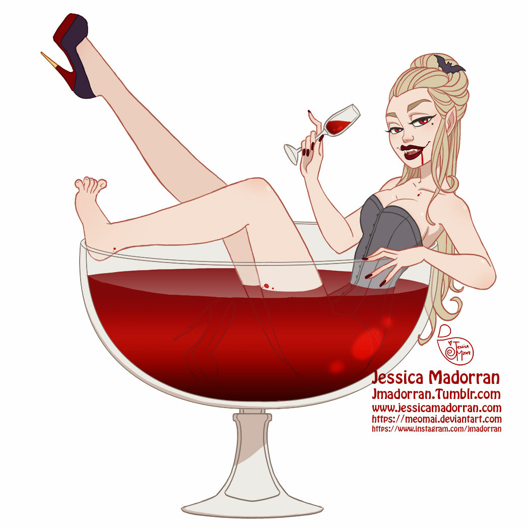 Jessica madorran character design drawlloween vampire 2019 artstation