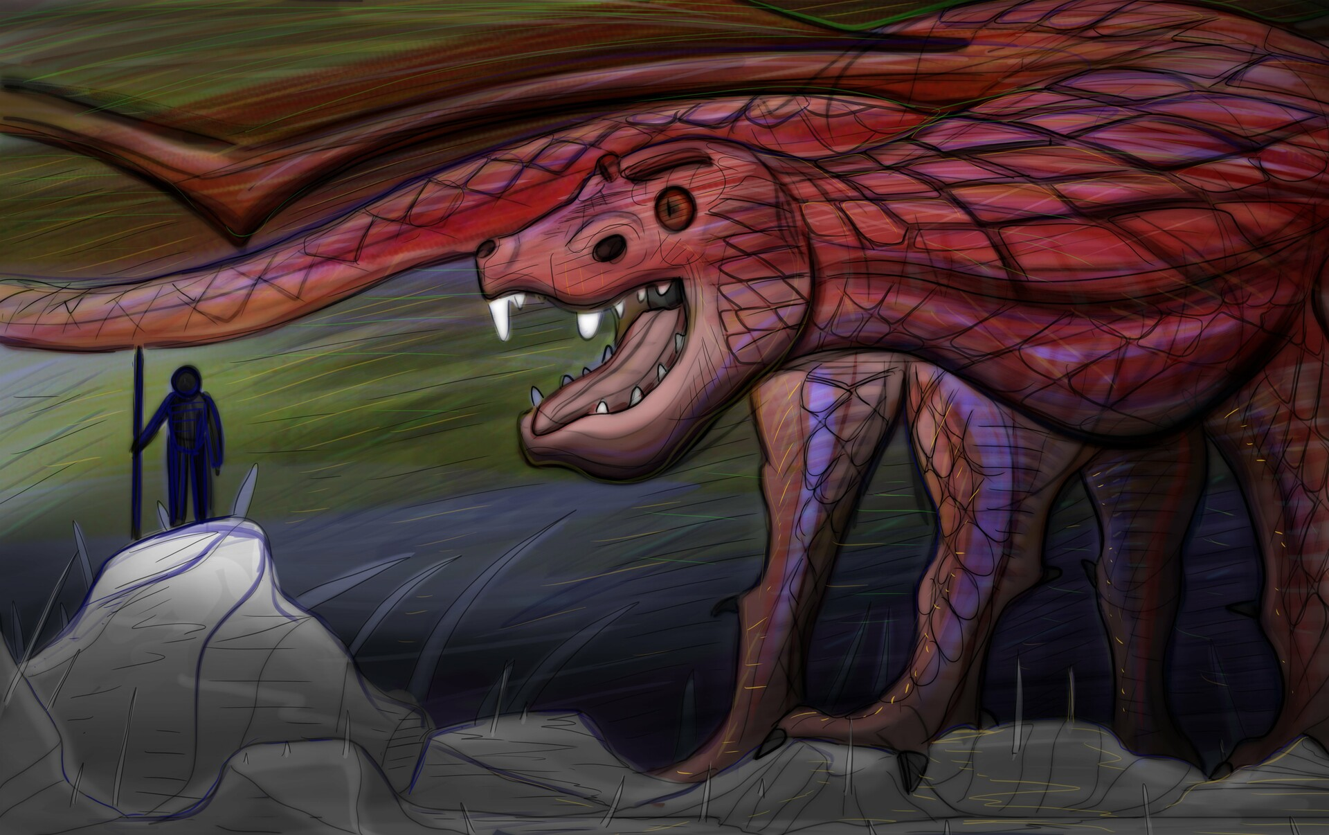 Looking the dragon in the eye