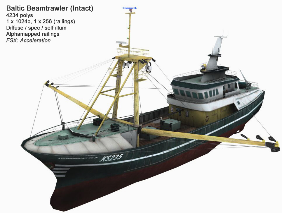 FSX: Acceleration (2007) - Baltic Beamtrawler