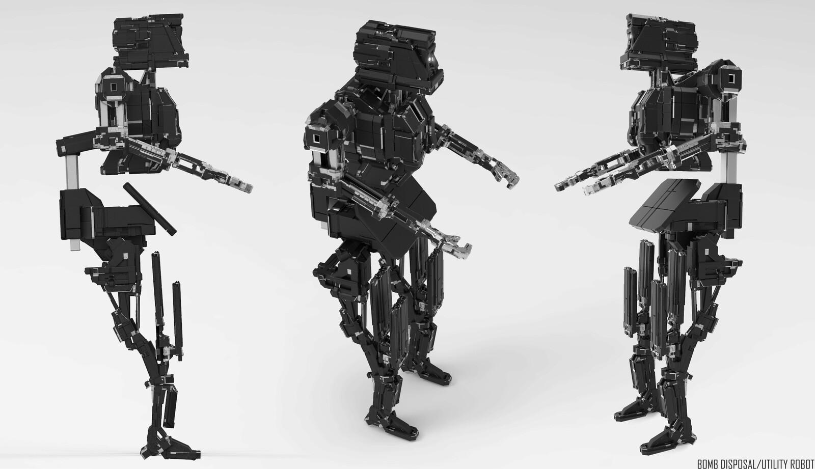Bomb disposal/utility robot