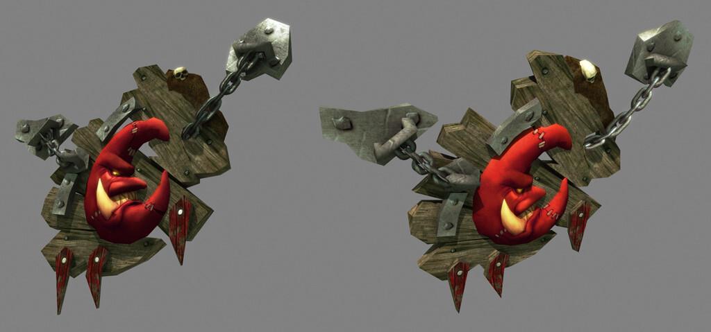 Goblin Sign ----- (skulls provided by character team)