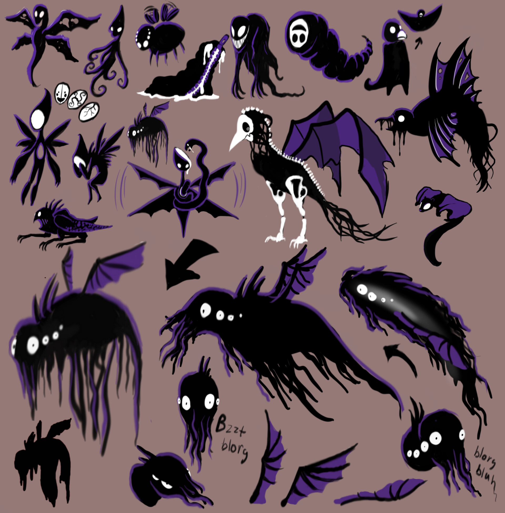 Artstation Concept Art Monster Designs Daphne Zwarts