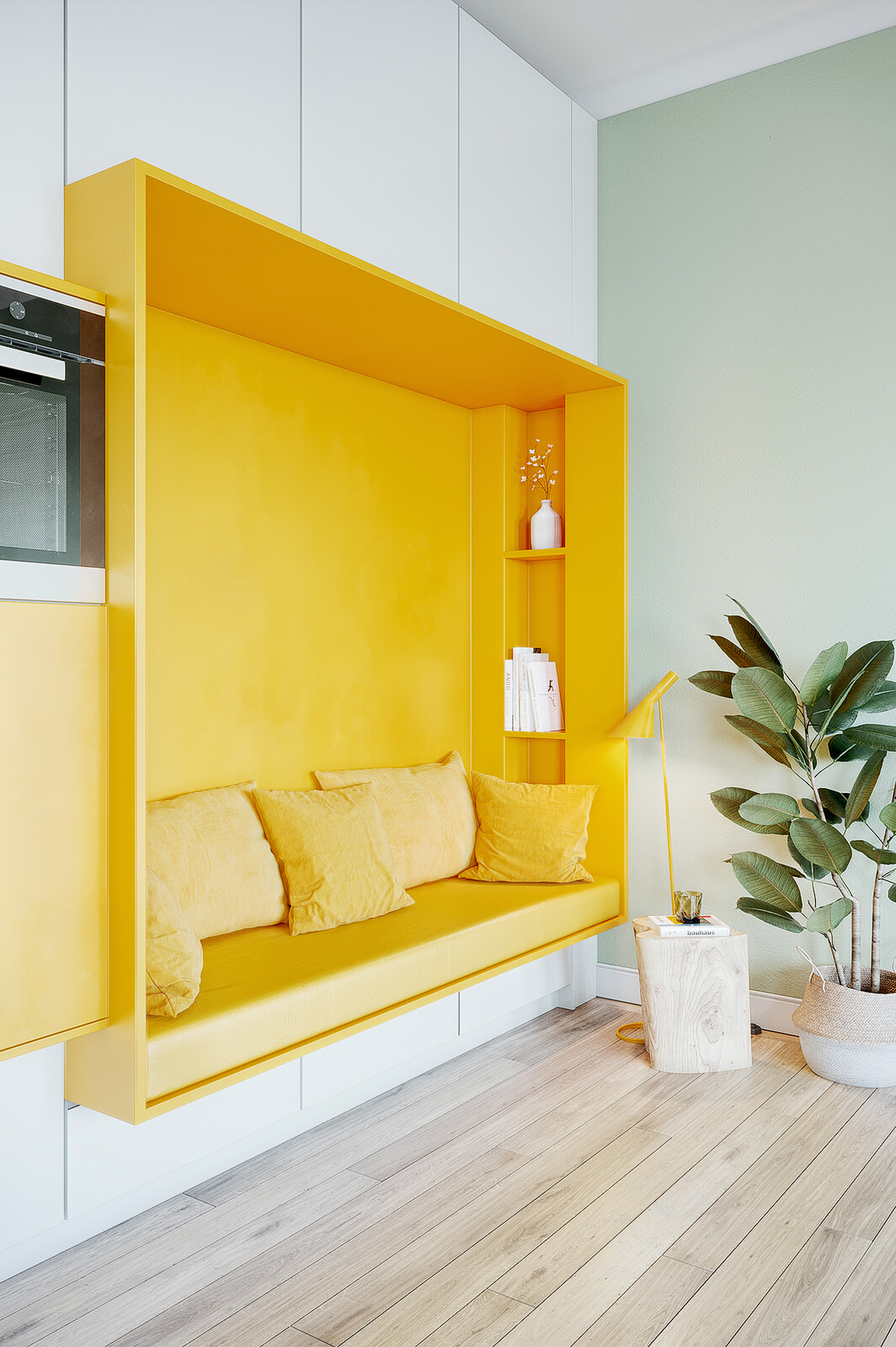 """""""Yellow Reading Nook"""" - 5 Hour Project"""