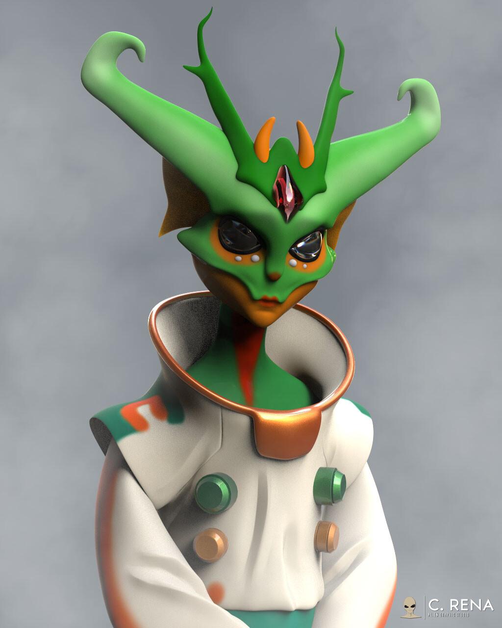 The Alien Creature Astronaut