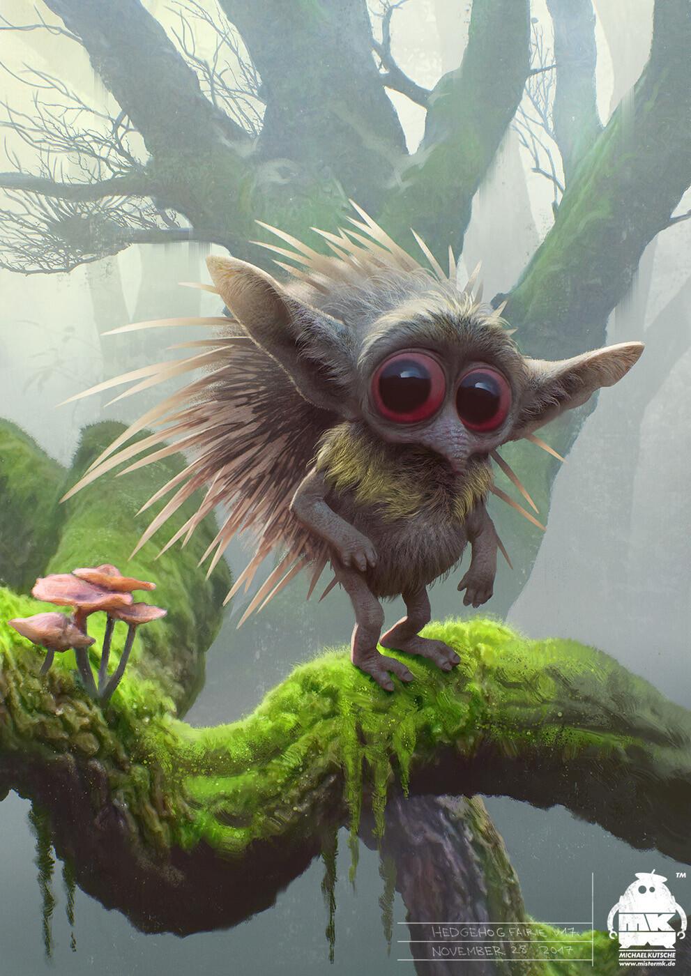 Artstation Maleficent 2 Hedgehog Fairie Character Design
