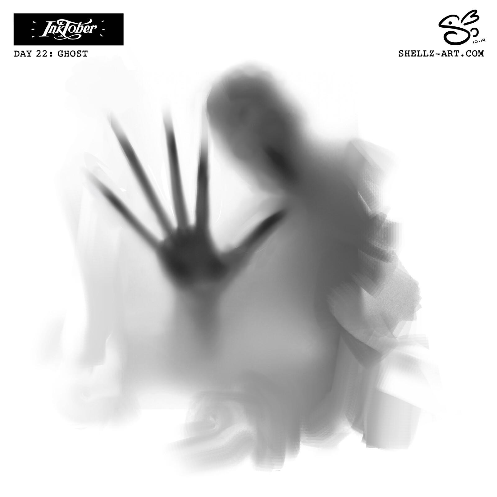 Inktober 2019   Day 22: Ghost