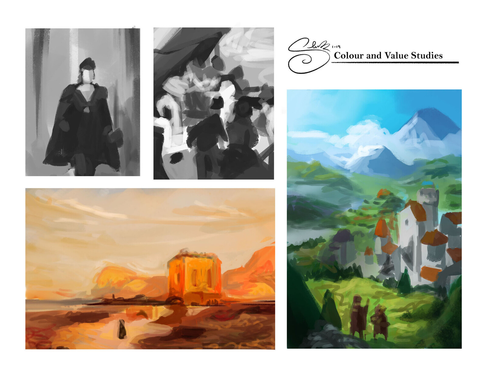 Colour and Value Studies