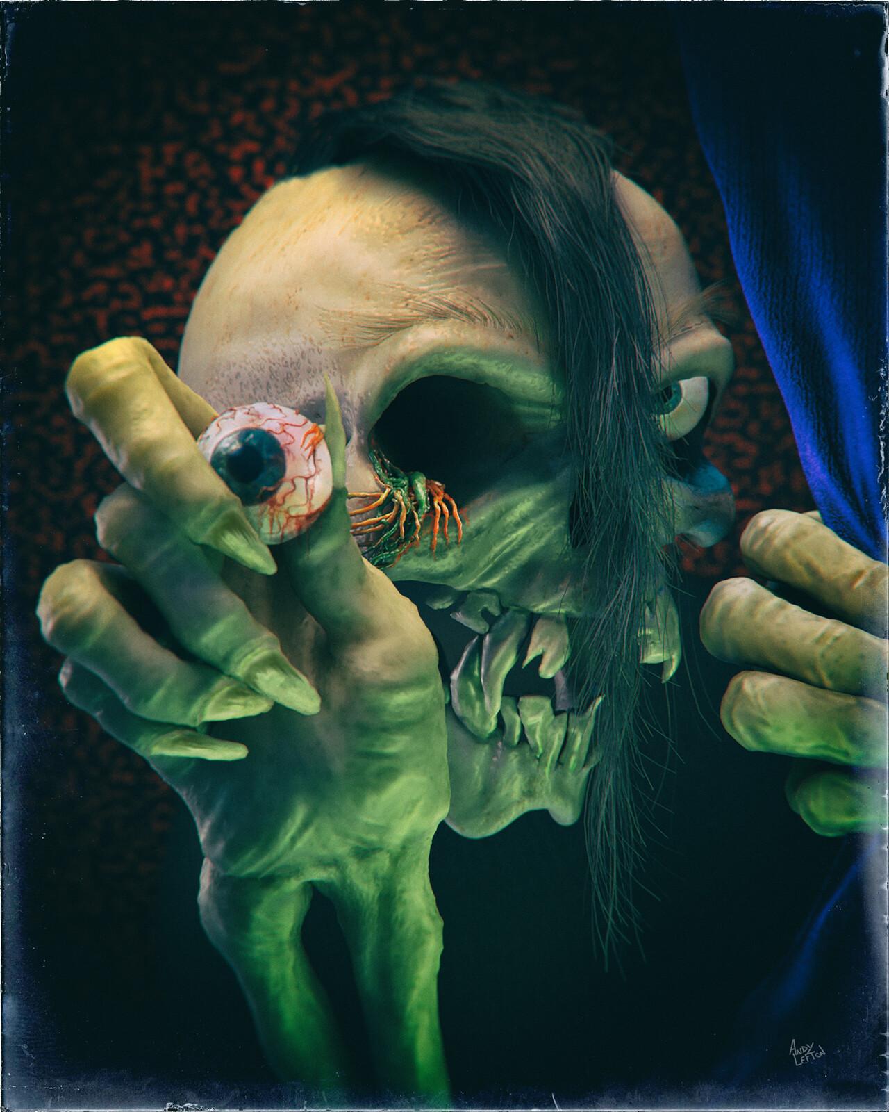 """Evil Eye"" - Tribute to Pushead"