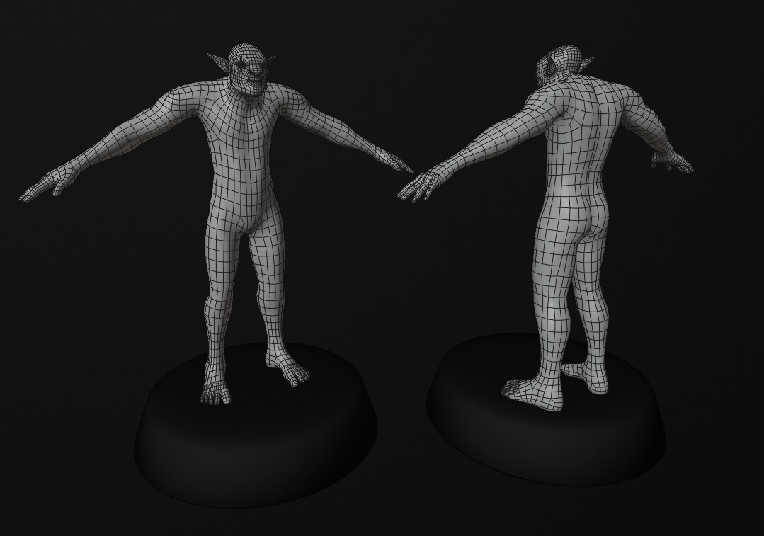 Wireframe Topology. Retopo done in 3D coat.