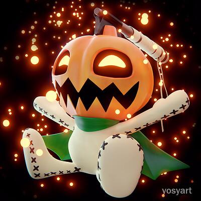 Yosy art pumpkinmon yosyart