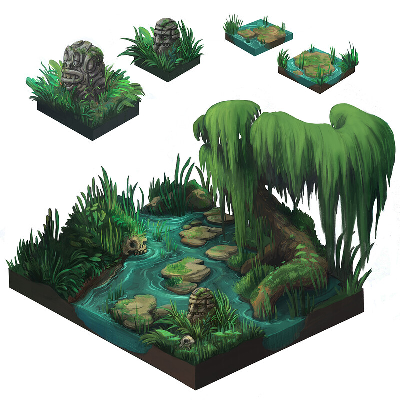 Swamp Isometric