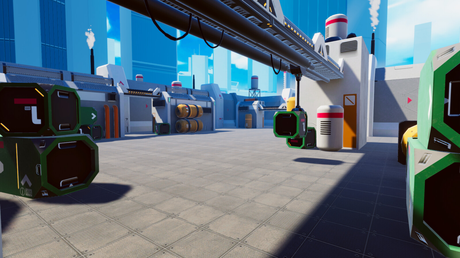 VR/Mobile stylized industrial complex
