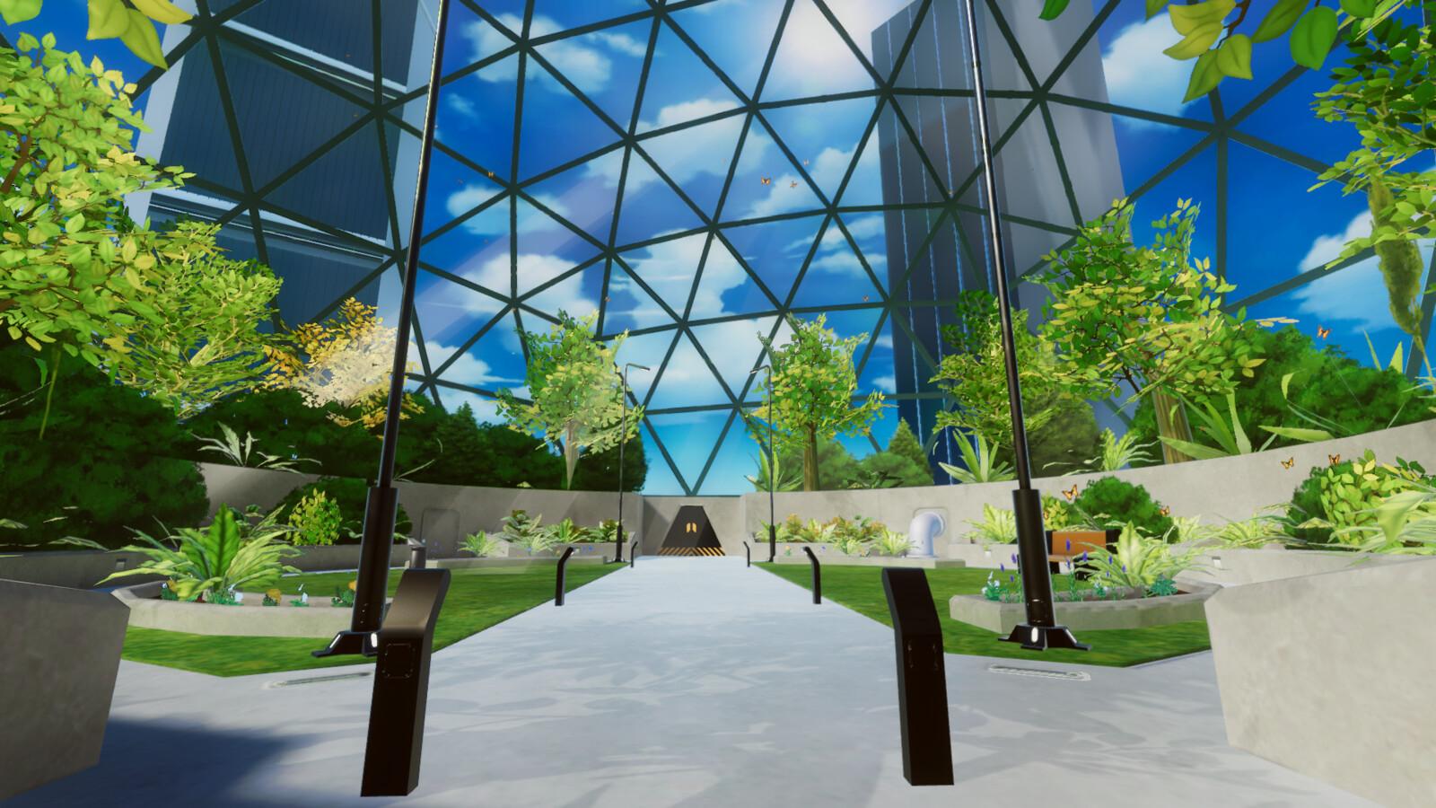 VR mobile stylized enviro dome park 5