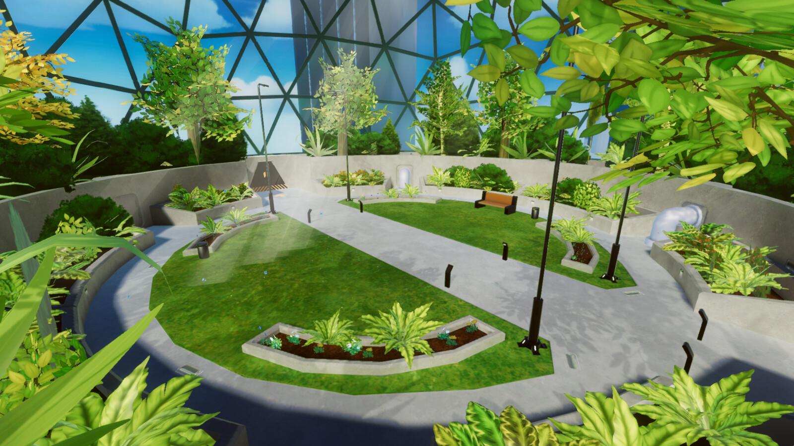VR mobile stylized enviro dome park 2