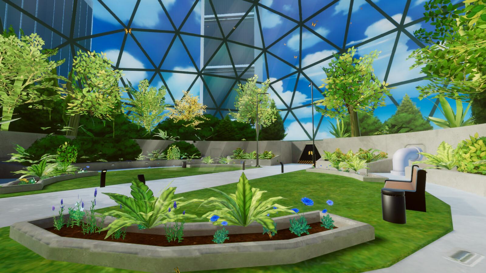 VR mobile stylized enviro dome park 4
