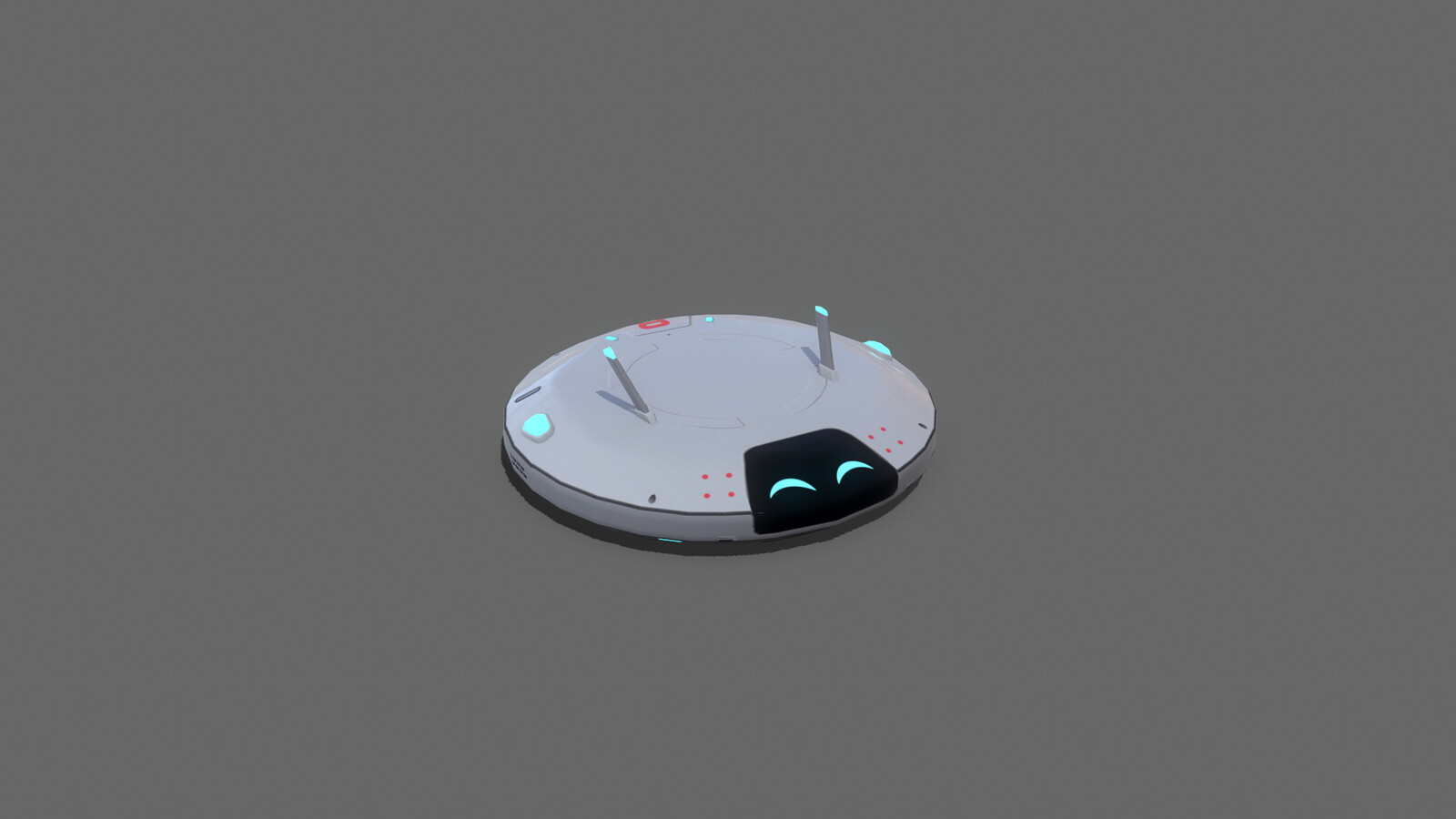 VR Stylized sci fi roomba
