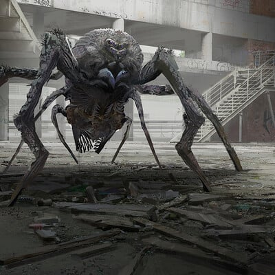 Yujin choo spider monster scene wip