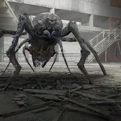 Yujin choo spider monster scene wip